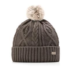 Dámská čepice, šedá, 85-HF-014-8, Obrázek 1