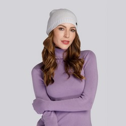 Dámská čepice, šedá, 93-HF-007-8, Obrázek 1