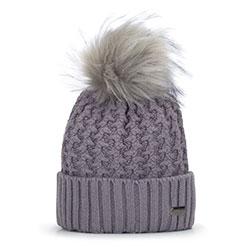 Dámská čepice, šedá, 93-HF-012-8, Obrázek 1