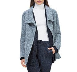 Dámský kabát, šedá, 84-9W-104-8-M, Obrázek 1