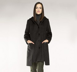 Dámský kabát, šedá, 85-9W-100-8-2X, Obrázek 1
