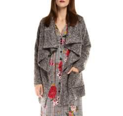 Dámský kabát, šedá, 85-9W-112-8-2X, Obrázek 1