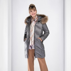 Dámská bunda, šedá, 89-9D-402-8-XL, Obrázek 1