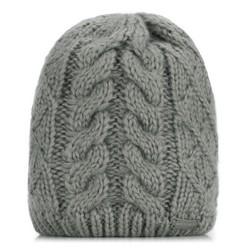 Dámská čepice, šedá, 89-HF-010-8, Obrázek 1