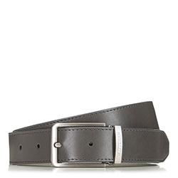 Pánský kožený opasek, šedá, 90-8M-305-8-90, Obrázek 1