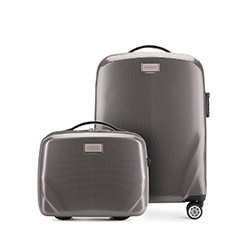 SADA (kabinový kufr + kosmetický kufřík), šedá, 56-3P-571_4-70, Obrázek 1