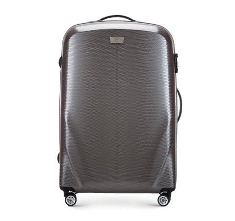 Velký cestovní kufr, šedá, 56-3P-573-85, Obrázek 1