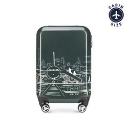 Kabinové zavazadlo, šedo-bílá, 56-3A-471-1P, Obrázek 1