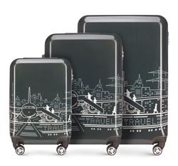 Sada cestovních zavazadel, šedo-bílá, 56-3A-47S-1P, Obrázek 1