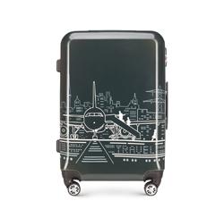 Střední zavazadlo, šedo-bílá, 56-3A-472-1P, Obrázek 1