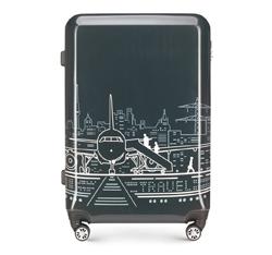 Velký cestovní kufr, šedo-bílá, 56-3A-473-1P, Obrázek 1