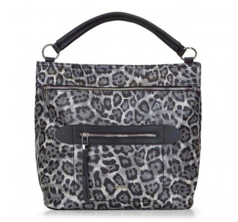 Dámská kabelka, šedo-černá, 89-4Y-357-8, Obrázek 1