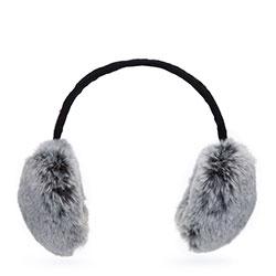 Dámské klapky na uši, šedo-černá, 93-HF-016-8, Obrázek 1