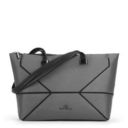 Dámská kabelka, šedo-černá, 89-4E-403-8, Obrázek 1