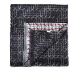 Pánská šála, šedo-červená, 84-7M-S40-X03, Obrázek 1