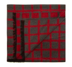 Pánská šála, šedo-červená, 85-7M-S40-X3, Obrázek 1