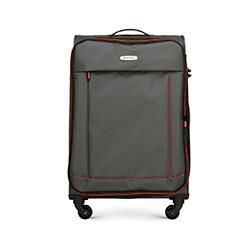 Střední cestovní kufr, šedo-červená, 56-3S-462-02, Obrázek 1