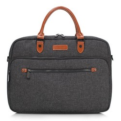 Taška na notebook, šedo-hnědá, 89-3P-111-8, Obrázek 1