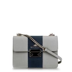 Dámská kabelka, šedo-tmavě modrá, 89-4E-411-8, Obrázek 1