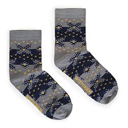 Dámské ponožky, šedo-tmavě modrá, 91-SK-022-X1-37/39, Obrázek 1