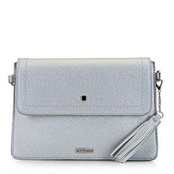 Женская сумка с кисточками, серебряный, 92-4Y-566-S, Фотография 1
