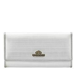 Большой женский кошелек из лакированной кожи, серебряный, 25-1-052-SB, Фотография 1
