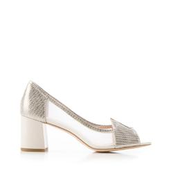 Туфли на каблуке прозрачные, серебряный, 92-D-955-0-36, Фотография 1