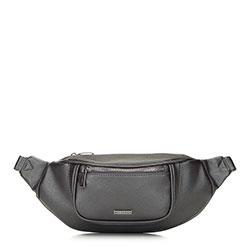 Женская сумка на пояс с широким фронтом, серебряный, 91-4Y-307-1M, Фотография 1