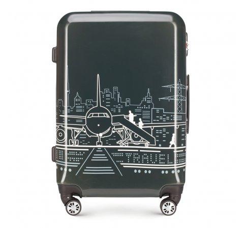 Средний чемодан, серо-белый, 56-3A-472-1P, Фотография 1
