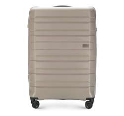 Большой чемодан, серо-бежевый, 56-3T-753-85, Фотография 1