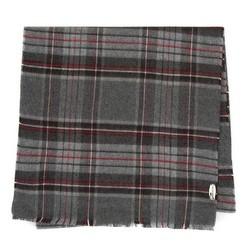 Мужской классический клетчатый шарф, серо-бордовый, 91-7M-X04-X11, Фотография 1