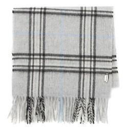 Мужской клетчатый кашемировый шарф, серо - черный, 91-7M-K01-X1, Фотография 1