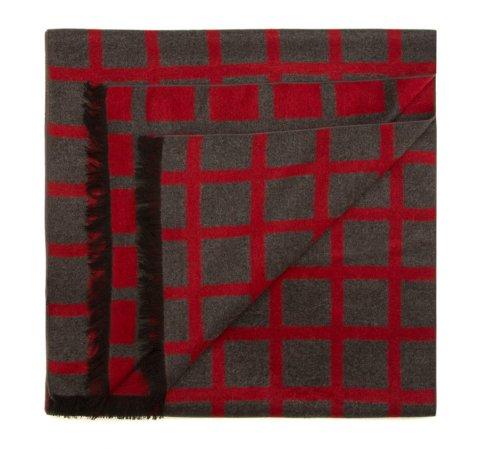 Шарф мужской, серо-красный, 85-7M-S40-X11, Фотография 1