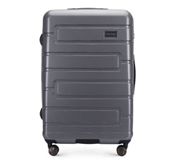 Большой чемодан, серый, 56-3P-833-00, Фотография 1