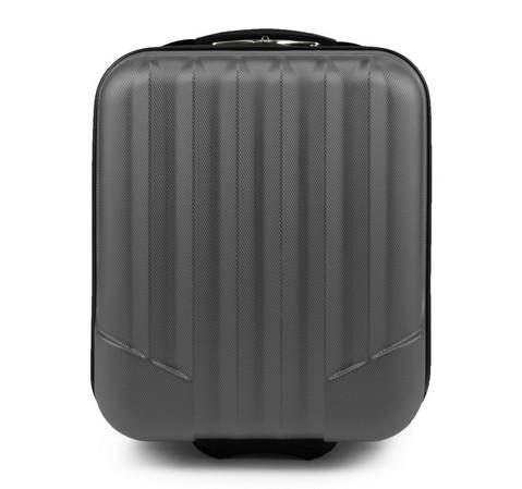 Чемодан ручная кладь из ABS - пластика с вертикальными линиями, серый, V25-10-232-00, Фотография 1