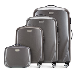 Комплект чемоданов, серый, 56-3P-57K-70, Фотография 1
