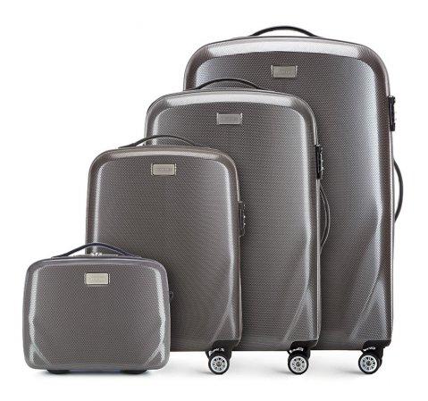 Комплект чемоданов, серый, 56-3P-57K-50, Фотография 1