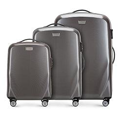 Комплект чемоданов, серый, 56-3P-57S-70, Фотография 1