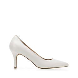 Классические кожаные туфли на шпильке, серый, 92-D-551-8-40, Фотография 1