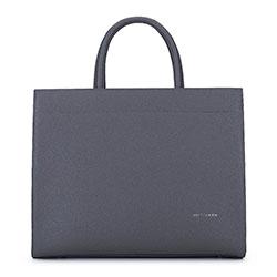 Минималистская кожаная сумка, серый, 93-4E-616-8, Фотография 1