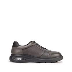 Мужские кожаные кроссовки с воздушной подушкой, серый, 93-M-902-8-42, Фотография 1