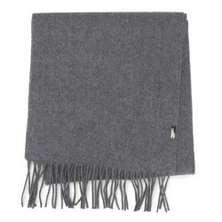 Мужской классический шарф с бахромой, серый, 91-7M-X03-8, Фотография 1