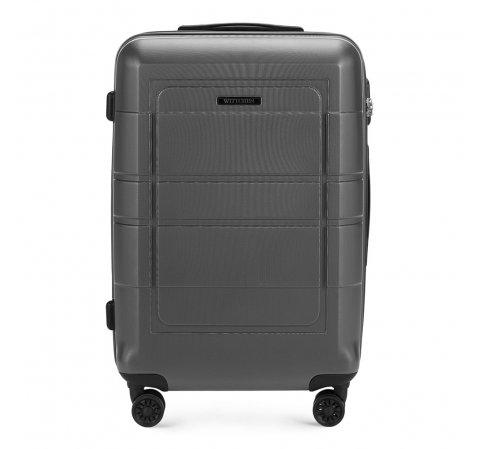 Средний чемодан с геометрическими прорезями, -, 56-3H-542-9R, Фотография 1