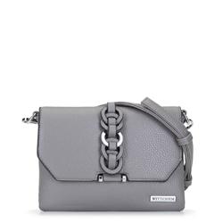 Женская сумка через плечо с переплетеньем, серый, 92-4Y-241-8, Фотография 1
