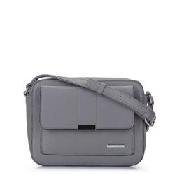 Женская сумка через плечо с прямоугольным карманом, серый, 92-4Y-207-8, Фотография 1