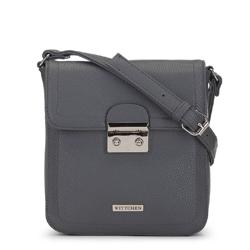Женская маленькая сумка через плечо с замком, серый, 91-4Y-706-8, Фотография 1