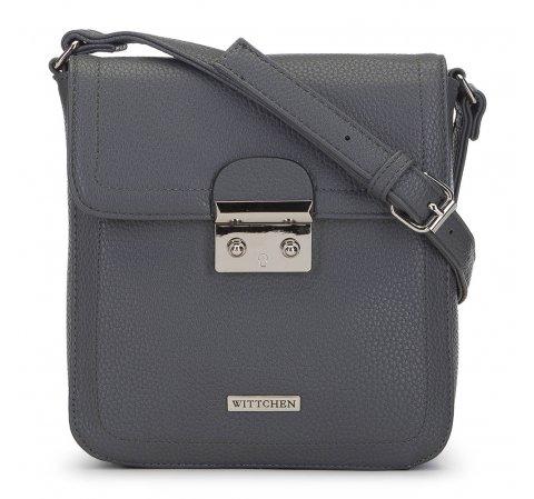 Женская маленькая сумка через плечо с замком, серый, 91-4Y-706-7, Фотография 1