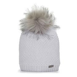 Женская шапка из вискозы с помпоном, серый, 93-HF-004-8, Фотография 1
