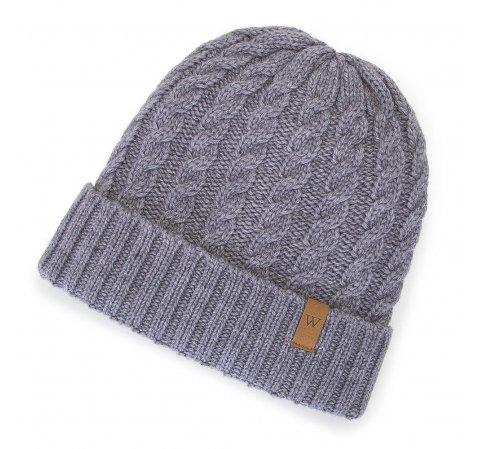 Утепленная женская шапка, серый, 91-HF-201-8, Фотография 1