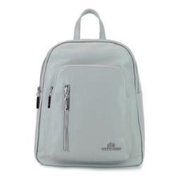 Женский кожаный рюкзак на молнии, серый, 92-4E-300-8, Фотография 1